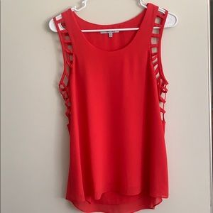 Red Cut-Out Tank